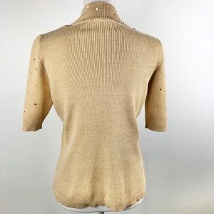 Kim Rogers Tops - Kim Rogers • Signature Gold Knit Pullover Top